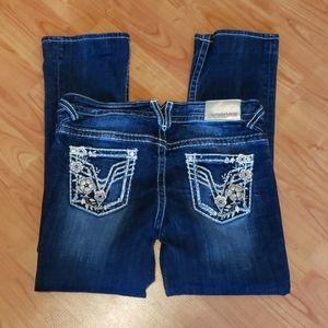 Vigoss The Chelsea slim bootcut thick stitch jeans